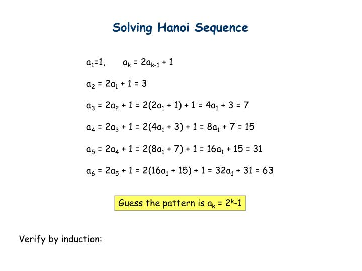 Solving Hanoi Sequence