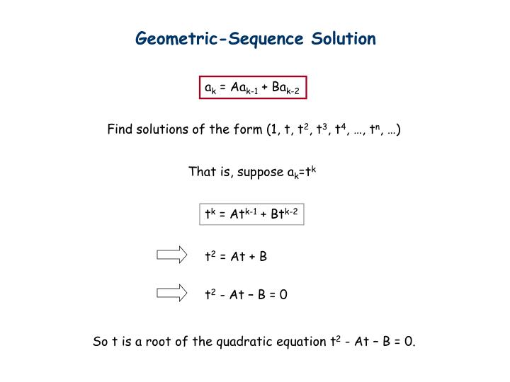 Geometric-Sequence Solution