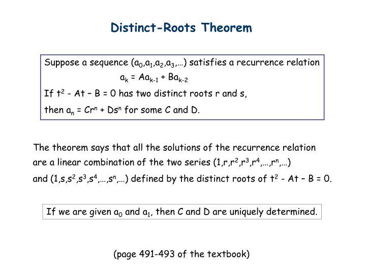 Distinct-Roots Theorem