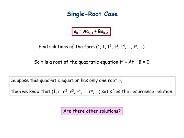 Single-Root Case