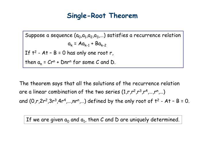 Single-Root Theorem