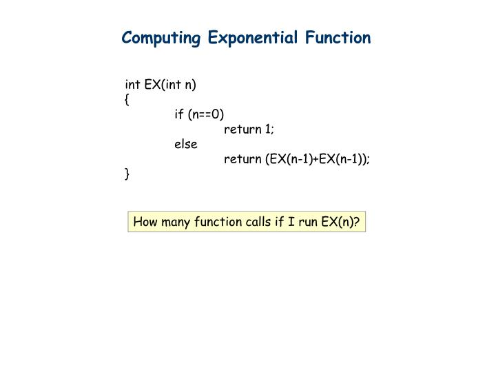 Computing Exponential Function