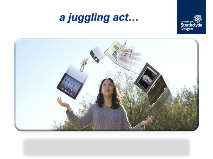 a juggling act…