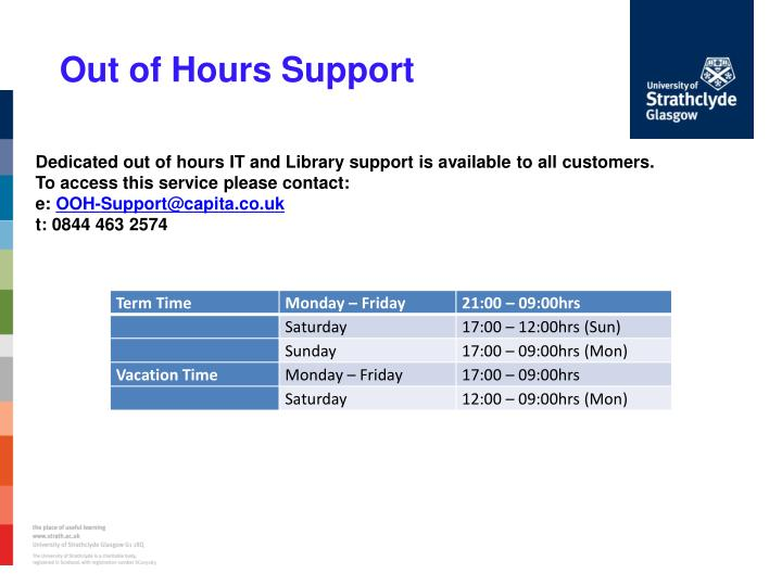 Out of Hours Support