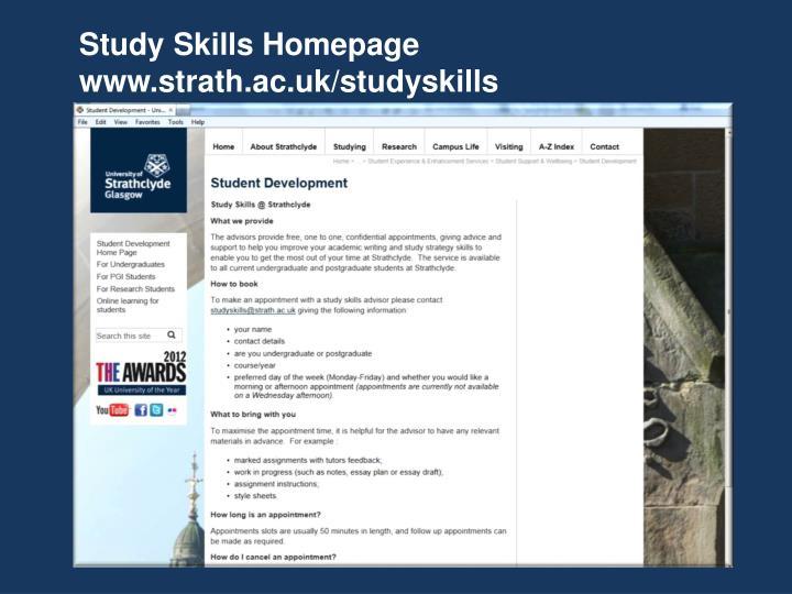 Study Skills Homepage