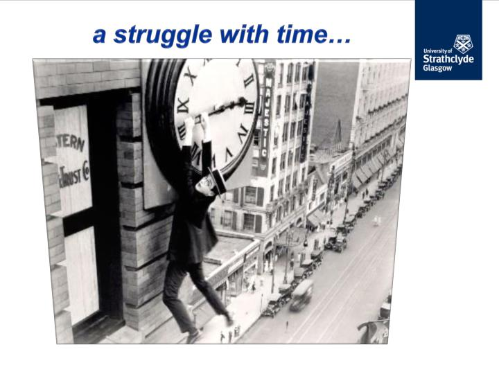 a struggle with time…