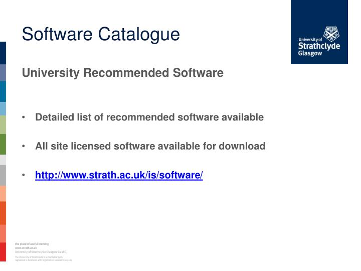 Software Catalogue