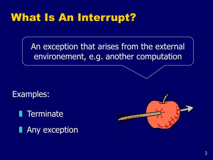 What is an interrupt