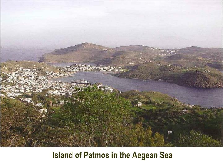 Island of Patmos in the Aegean Sea