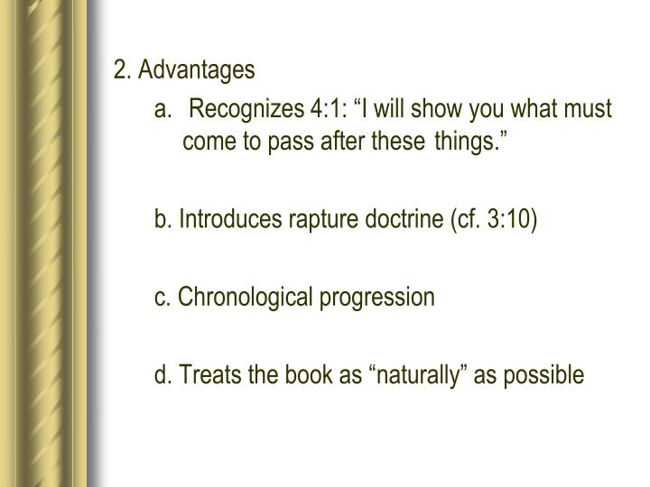 2. Advantages