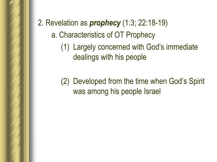 2. Revelation as