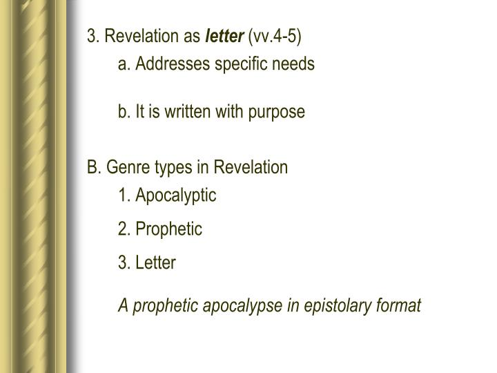 3. Revelation as