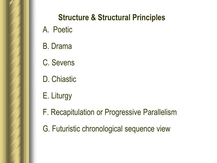 Structure & Structural Principles
