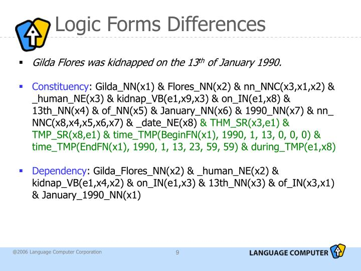 Logic Forms Differences