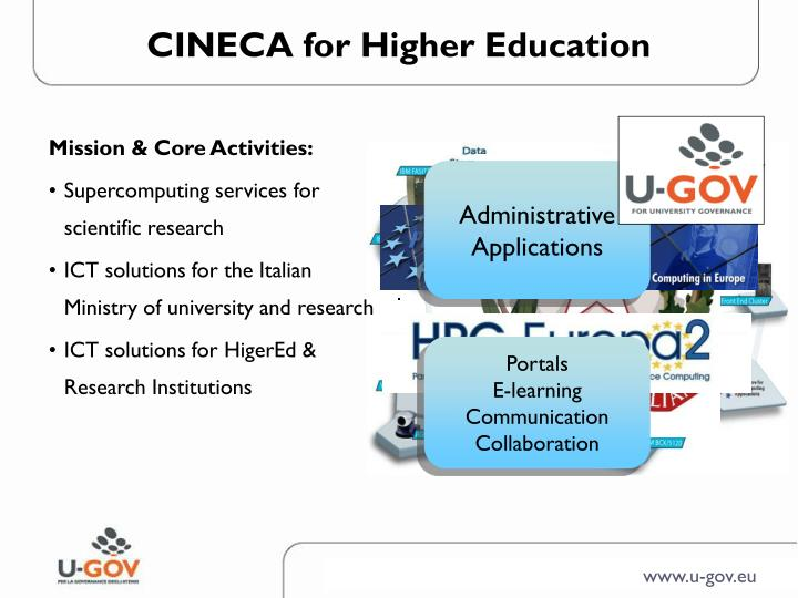Cineca for higher education