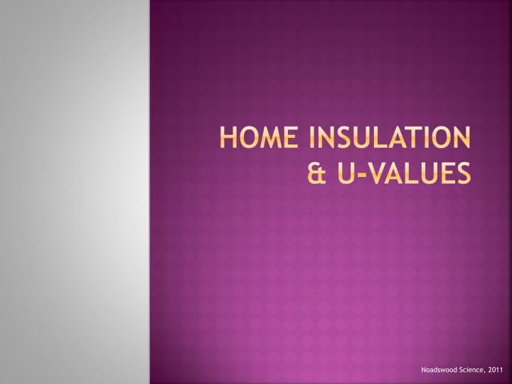 Home insulation u values