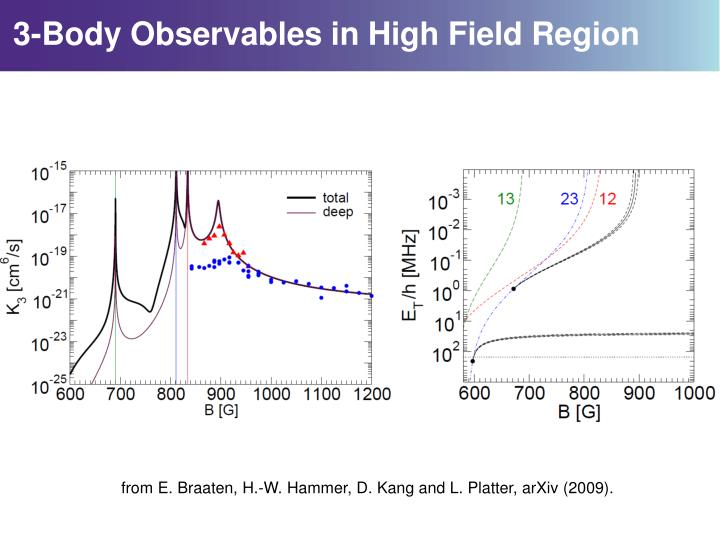 3-Body Observables in High Field Region