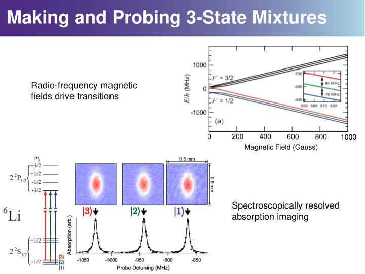 Making and Probing 3-State Mixtures