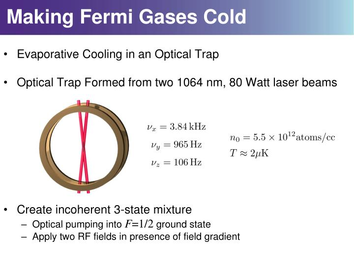 Making Fermi Gases Cold