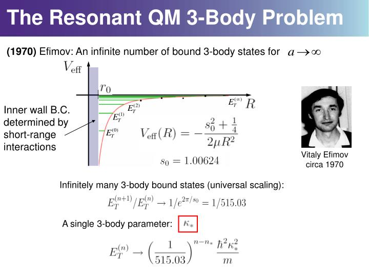 The Resonant QM 3-Body Problem