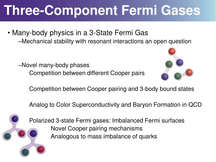 Three component fermi gases