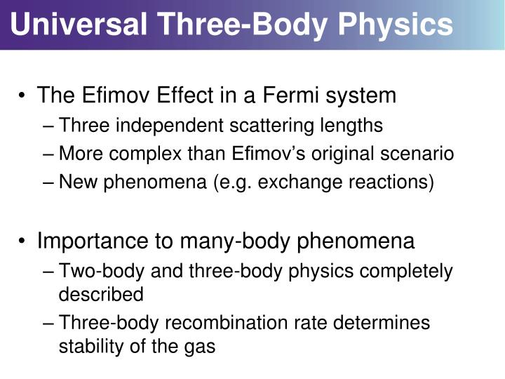 Universal Three-Body Physics