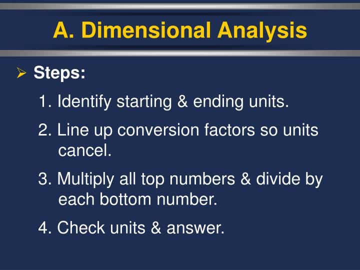 A. Dimensional Analysis
