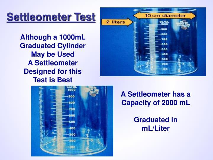 Settleometer Test