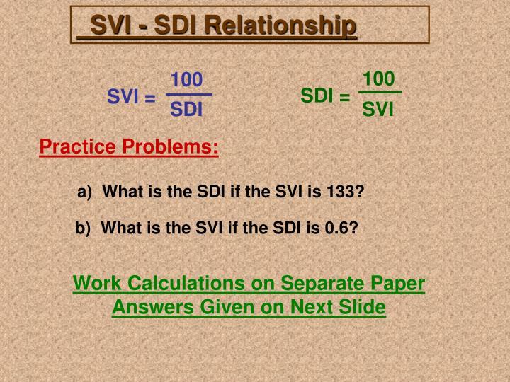 SVI - SDI Relationship