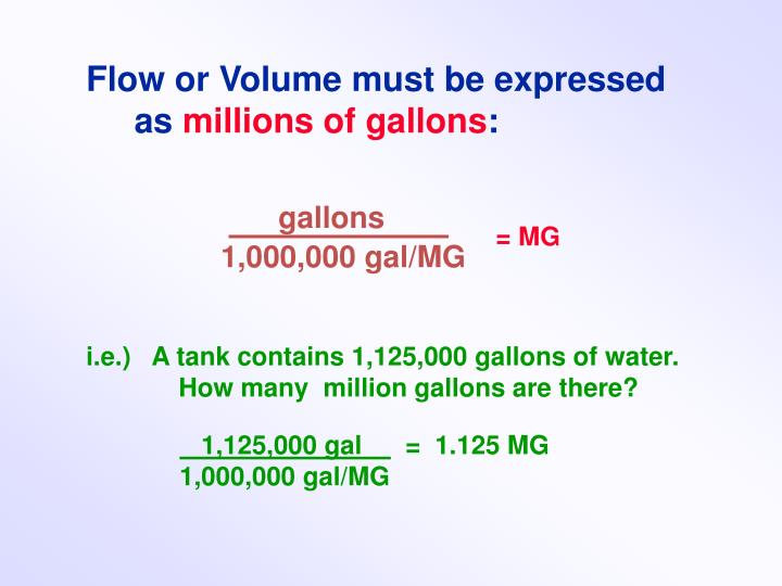 Flow or Volume must be expressed