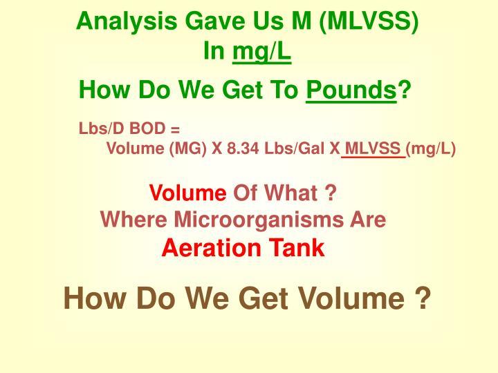 Analysis Gave Us M (MLVSS)