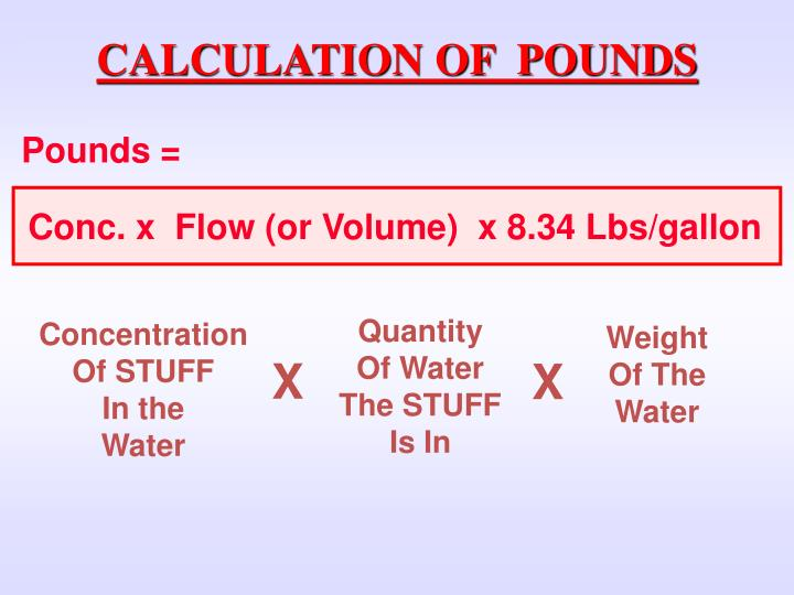 CALCULATION OF  POUNDS