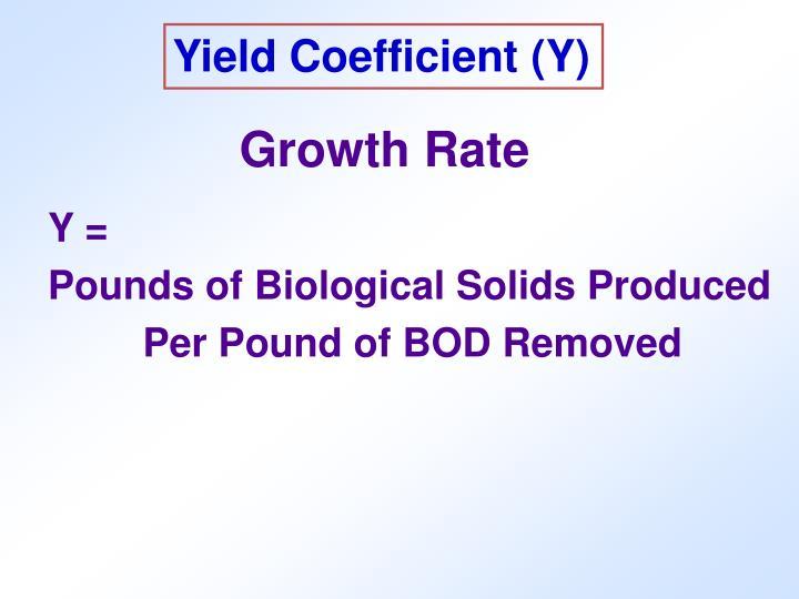 Yield Coefficient (Y)