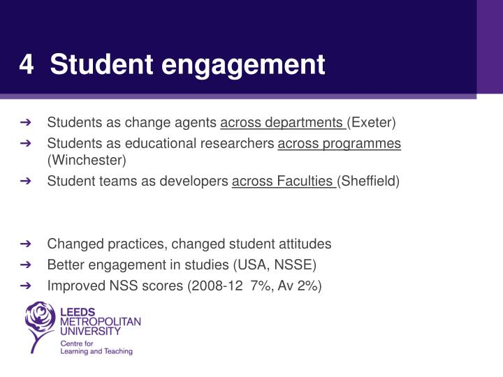 4  Student engagement