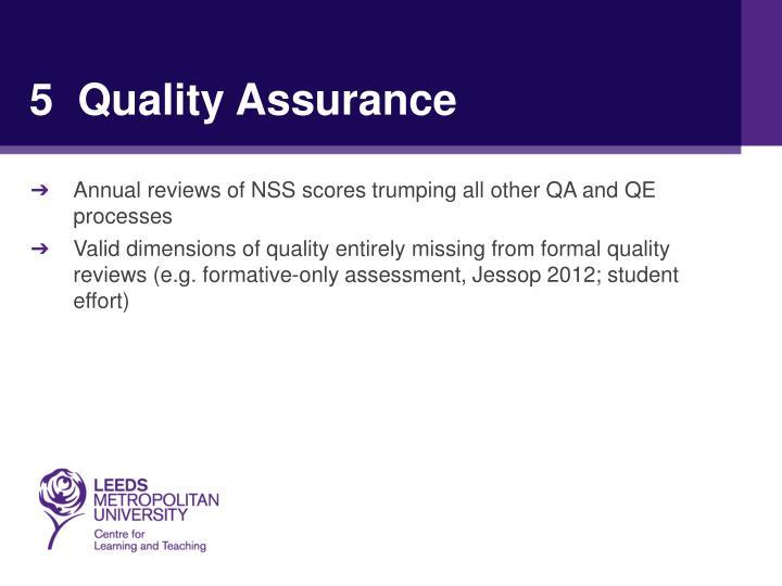 5  Quality Assurance