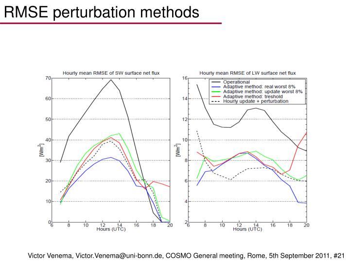 RMSE perturbation methods