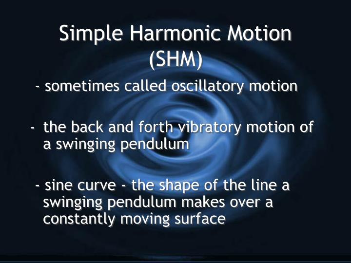 Simple harmonic motion shm