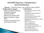 accord sponsor collaborators and contributors