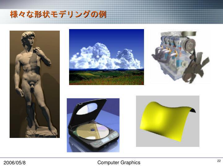 様々な形状モデリングの例