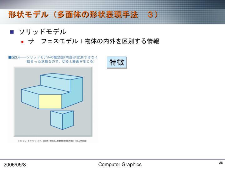 形状モデル(多面体の形状表現手法 3)