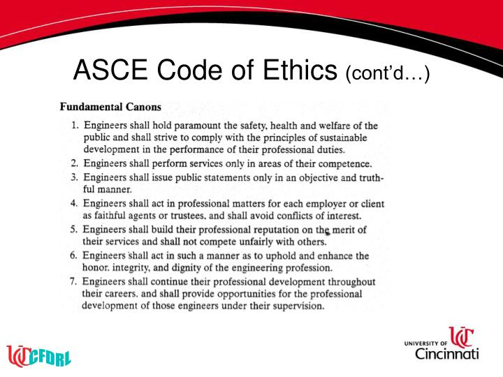ASCE Code of Ethics
