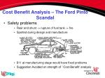 cost benefit analysis the ford pinto scandal