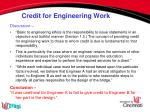credit for engineering work1
