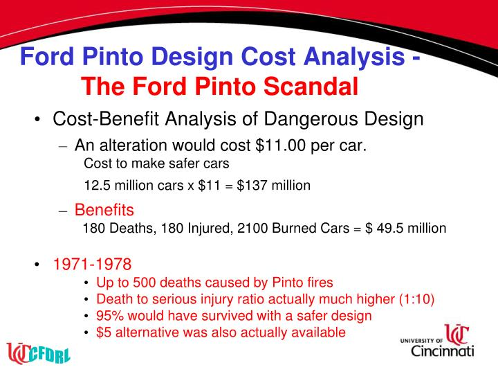 Ford Pinto Design Cost