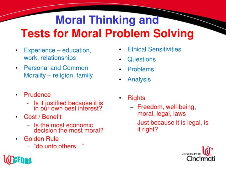 Moral Thinking and
