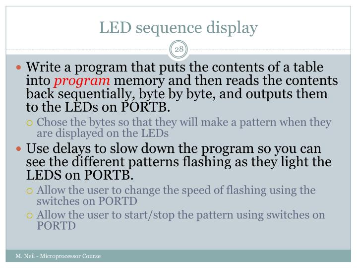 LED sequence display