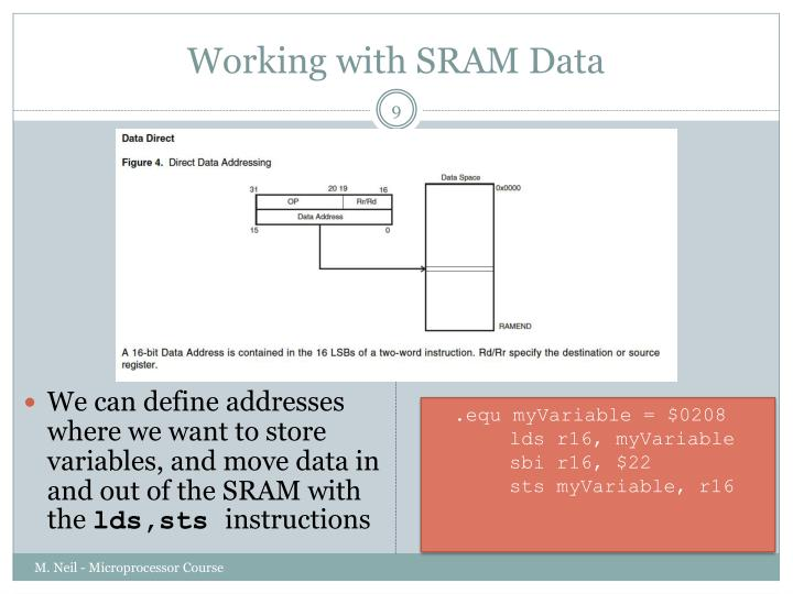 Working with SRAM Data