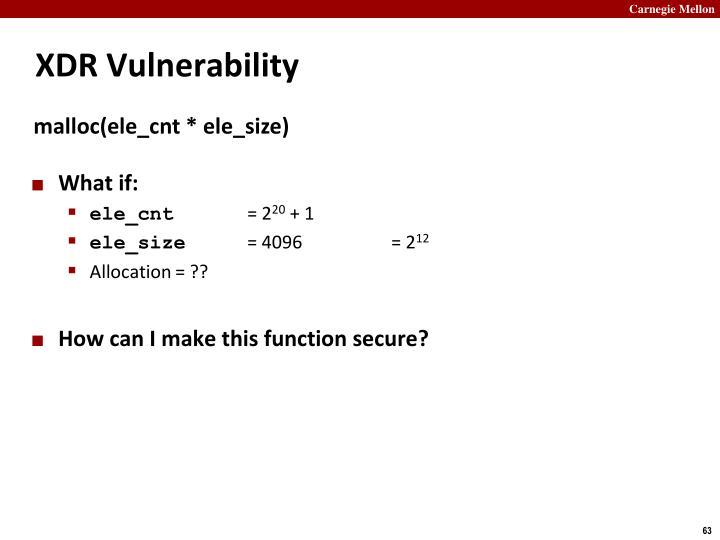 XDR Vulnerability