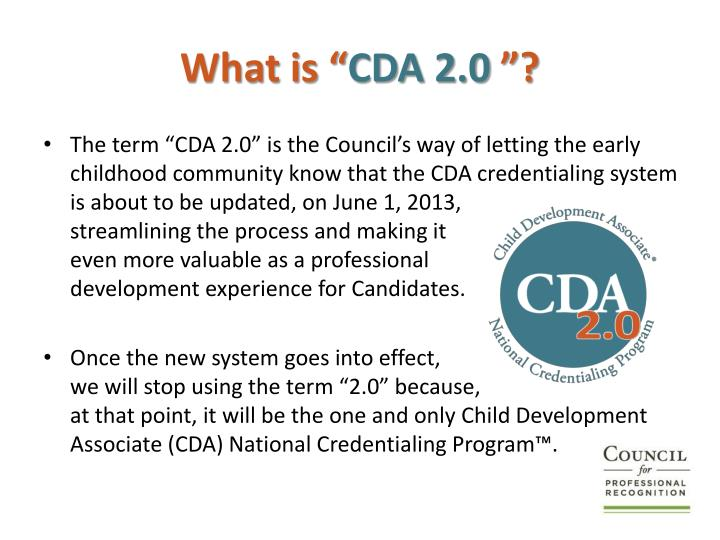 What is cda 2 0