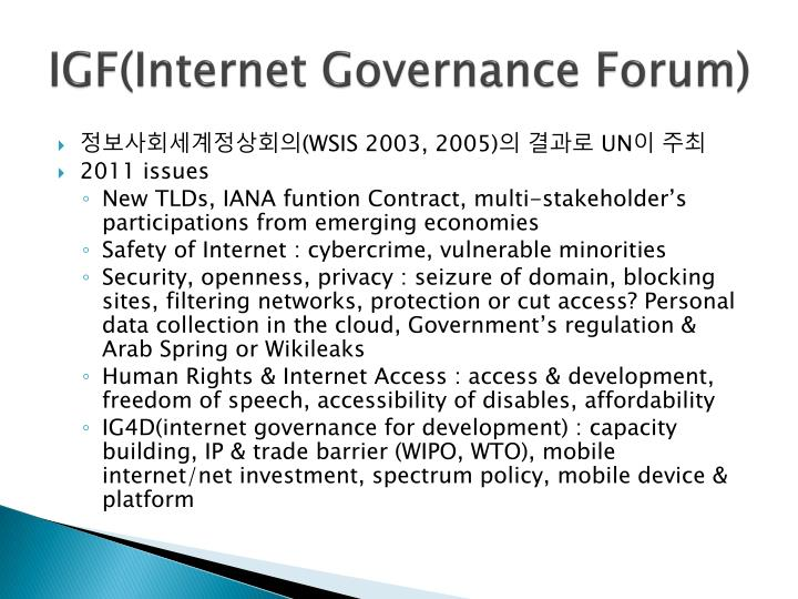 IGF(Internet Governance Forum)